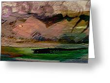 Storm On The Mountain Greeting Card