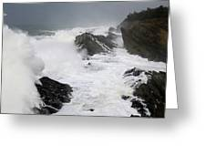 Storm On The Oregon Coast 2 Greeting Card