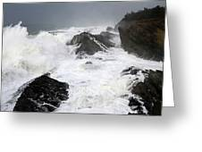 Storm On The Oregon Coast Greeting Card
