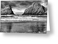 Storm On The Rocks Greeting Card