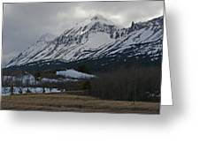 Storm On The Rocky Mountain Front Greeting Card