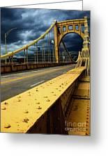 Storm Over Bridge Greeting Card