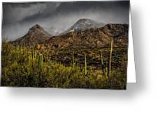 Storm Over Catalinas 15 Greeting Card