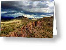 Storm Over Cliffs Greeting Card