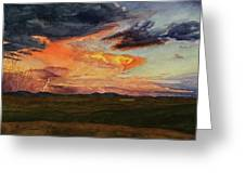 Storm Over Davis Mountains Greeting Card
