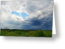 Storm Over Foothills Greeting Card