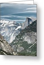 Storm Over Half Dome Greeting Card