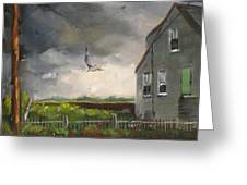 Storm Over Hull Jr Greeting Card