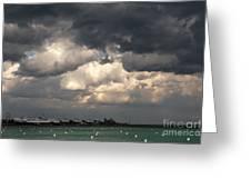Storm Over Lake Michigan Greeting Card