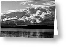 Storm Over Lake Placid Greeting Card