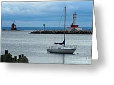 Storm Over Mackinac Greeting Card