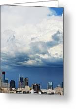 Storm Over Nashville Greeting Card