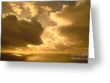 Storm Over Ocean Greeting Card