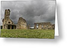 Storm Over Ruin Greeting Card