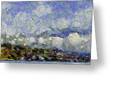 Storm Over Shore Greeting Card