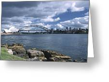 Storm Over Sydney Harbor Greeting Card