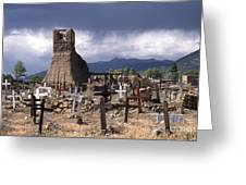 Storm Over Taos Graveyard Greeting Card