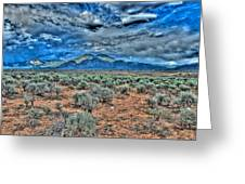 Storm Over Taos Mountain Greeting Card