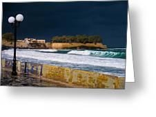 Storm Over The Aegean Greeting Card