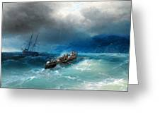 Storm Over The Black Sea Greeting Card