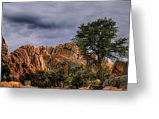 Storm Over The Granite Dells Greeting Card