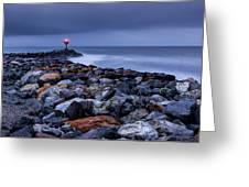 Storm Over The Jetty 2 Greeting Card