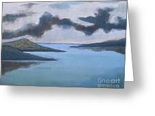 Storm Over The Lake Greeting Card