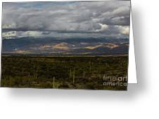 Storm Over The Mountains Of Arizona Greeting Card