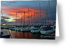 Storm Over The Newport Harbor Greeting Card