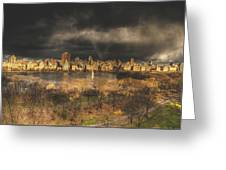 Storm Over The Park Greeting Card