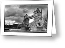 Storm Over Tower Bridge Greeting Card