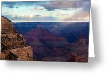 Storm Passes The Grand Canyon Greeting Card