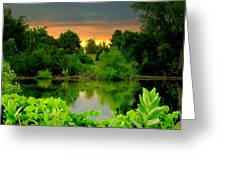 Storm Reflections Greeting Card