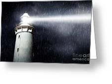 Storm Searchlight Greeting Card