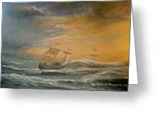 Storm Ships Greeting Card