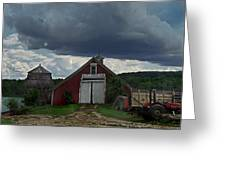 Storm Upon Maple Grove Farm Greeting Card