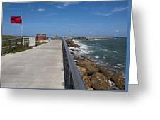 Storm Warning On The Atlantic Ocean In Florida Greeting Card