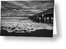Storm Waves Breaking On The Shore Greeting Card