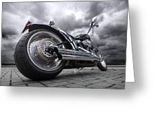 Storming Harley Greeting Card