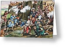 Storming Of The Fortress Of Neoheroka Greeting Card