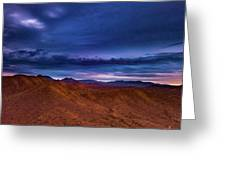 Stormline Above Mountains Greeting Card