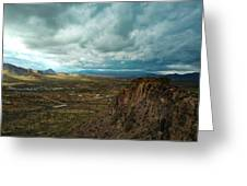 Storms And Cliffs Greeting Card