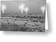 Storms And Halos Bw Greeting Card by Scott Cordell