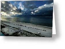 Storms Over The Gulf Of Mexico Greeting Card