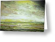 Stormsand Beach Textures No2yellow Greeting Card