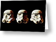 Stormtrooper 1-3 Weathered Greeting Card