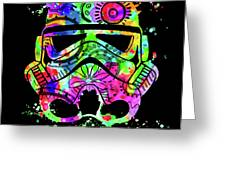 Stormtrooper Mask Rainbow 8 Greeting Card