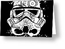Stormtrooper Mask White Black 5 Greeting Card