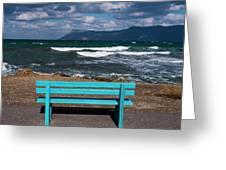 Stormy Aegean Sea Greeting Card