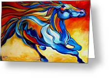 Stormy An Equine Abstract Southwest Greeting Card